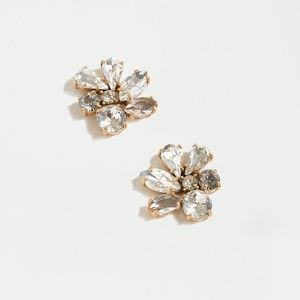 "JCrew Crystal ""Cluster Stone Earrings"""